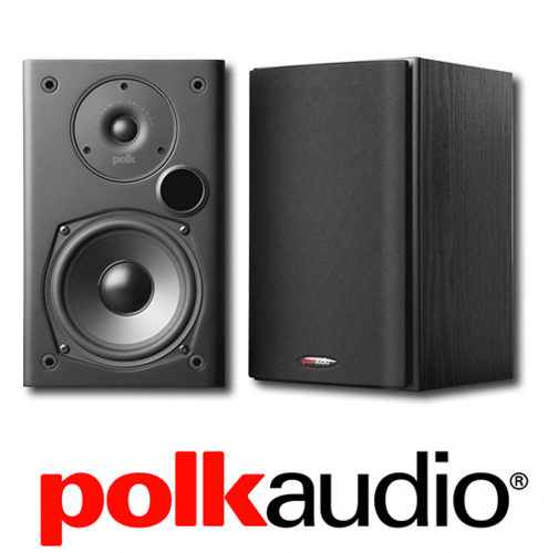 Polk Audio T15 5 1 4 Bookshelf Speakers Black Pair